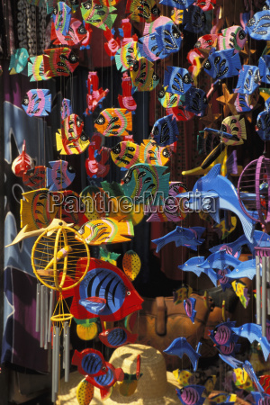 indonesia bali colorful wooden handpainted mobiles