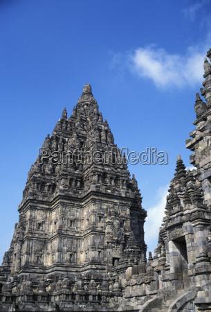 indonesia java prambanan closeup of top