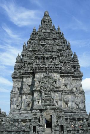 indonesia java prambanan temple view from
