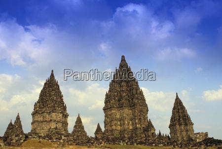 indonesia java prambanan hindu temple distant