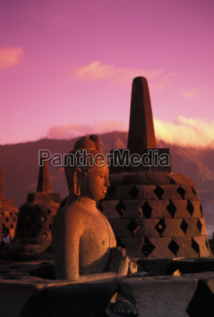 indonesia java borobudor temple and buddha
