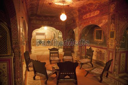 chair arranged at samode palace samode