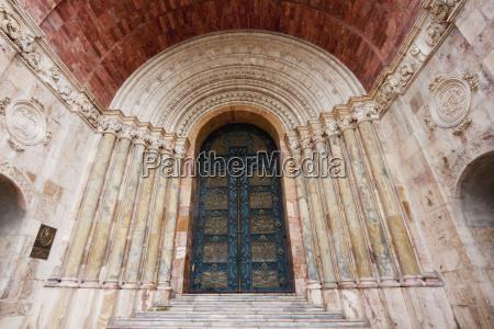 neo romanesque entrance of el sagrario