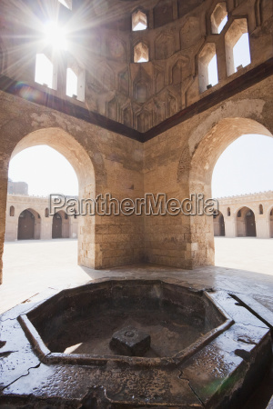interior of the domed ablution fountain