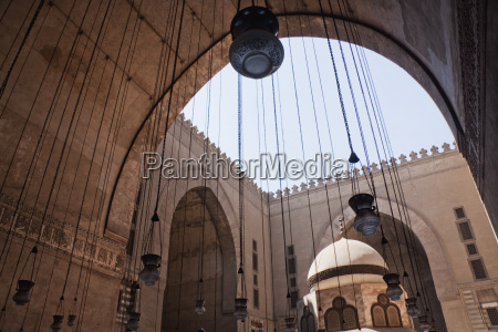 lamps in an iwan and ablution