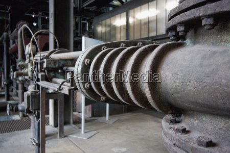 pipes in the coal washing plant