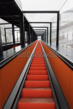 escalator to the visitors centre located