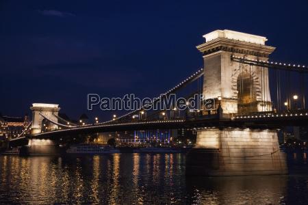 szechenyi chain bridge over the danube