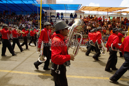 marching band in the procession of