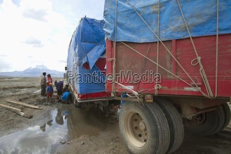 truck stuck in the mud sajama