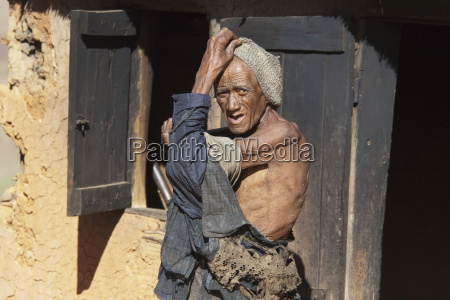 old man in a merina village