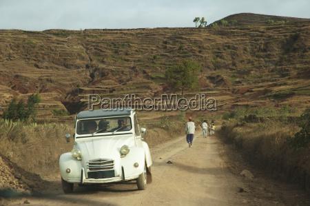 old citroen on a rural road