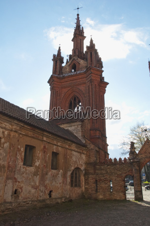 neo gothic bell tower at st