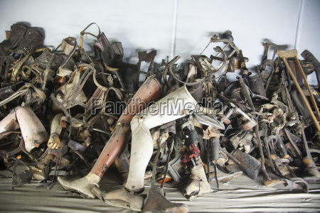pile of prosthetic devices belonging to