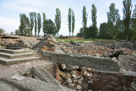 remains of gas chamber and crematorium