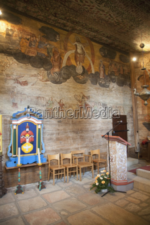 interior of the wooden church of