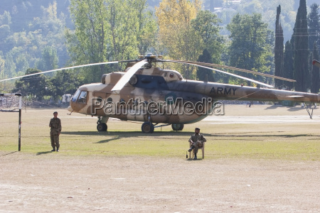 helicopter on a landing pad after