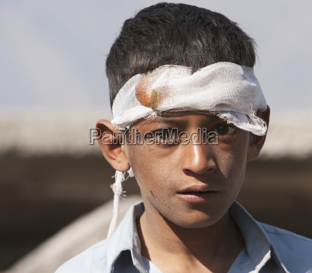 boy injured by the 8 october