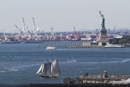 statue of liberty as seen from