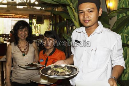 waiter at candi gama restaurant semarang