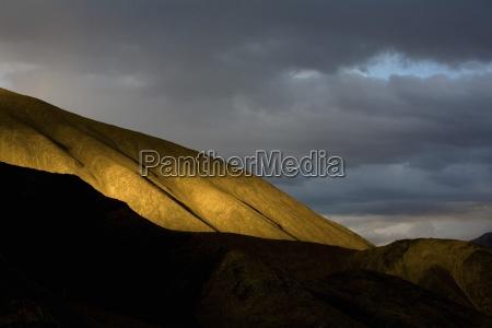 alpenglow on mountains lamayuru ladakh india