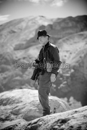 ladakh kashmir india tourist holding camera