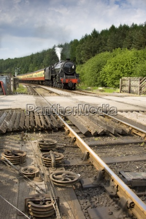 railroad track mechanism goathland north yorkshire