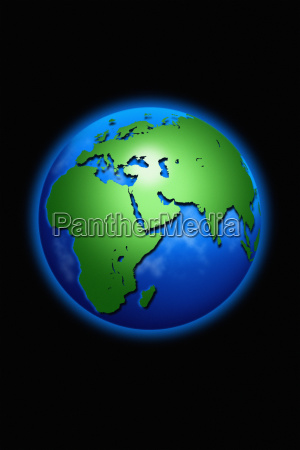 globe of earth in space centered