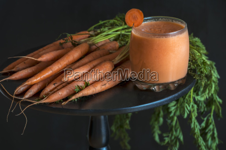 carrot smoothie glass and bundle of