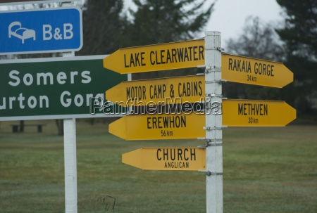 sign post for various locations in