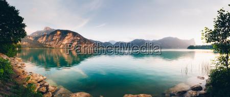 lake mondsee in salzkammergut austria