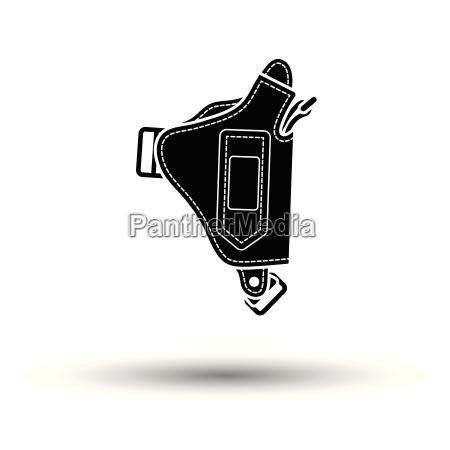 police holster gun icon