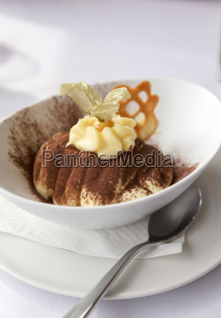 authentic italian cuisine fresh tiramisu dessert