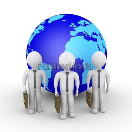 3d businessmen service worldwide