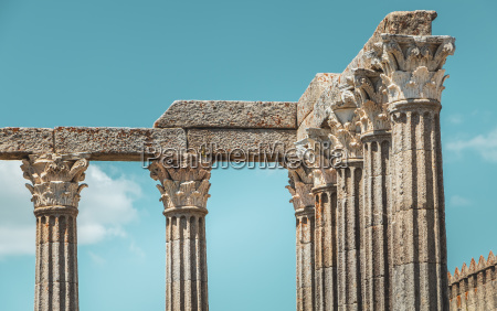 architectural detail of the roman temple