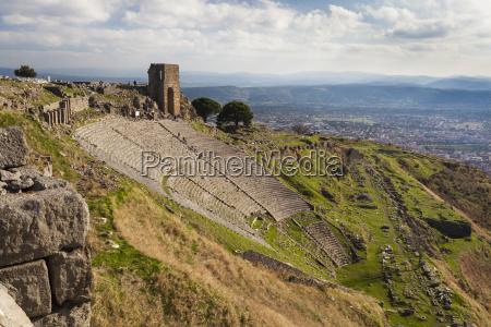 ruins of the theater in pergamum