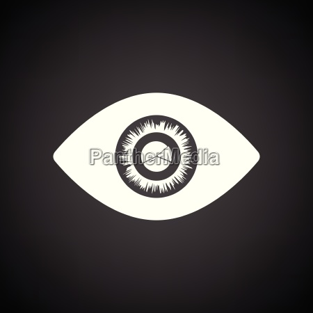 eye with market chart inside pupil