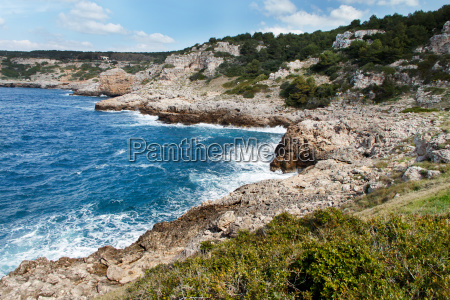 sea coast in the national park