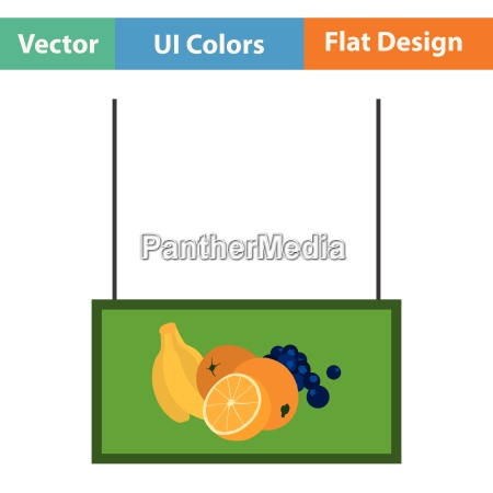 fruits, market, department, icon - 25533384