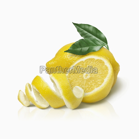 lemon and a twist of lemon