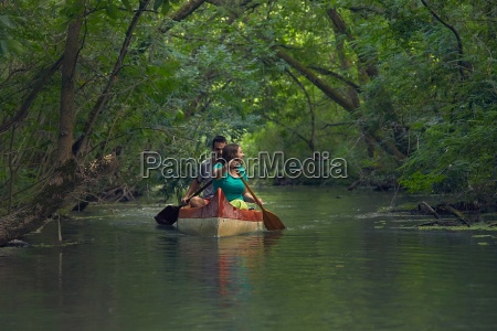 canoe tour on a river