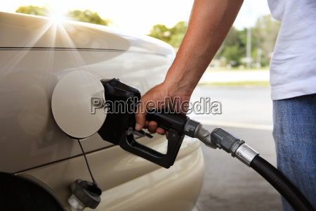 gas pump in the hand
