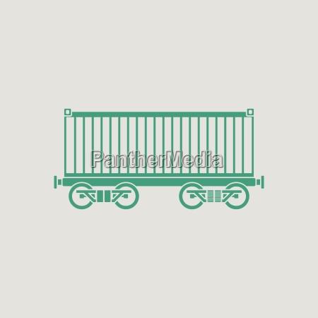 railway cargo container icon
