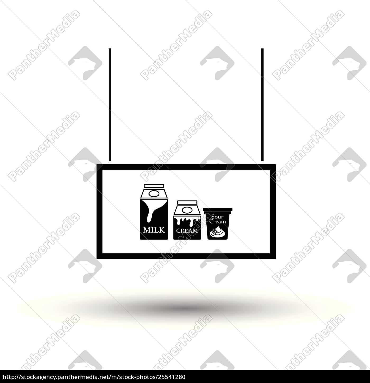 milk, market, department, icon - 25541280