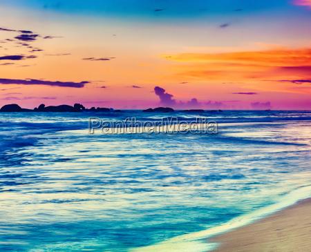 sunset over the sea beautiful landscape