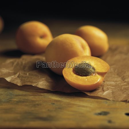 nectarines on parchment paper on a