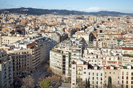 view of barcelona from agbar tower