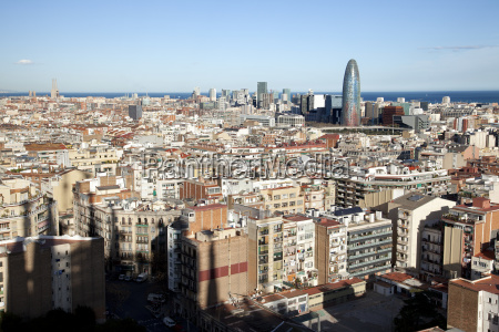 view of barcelona and agbar tower