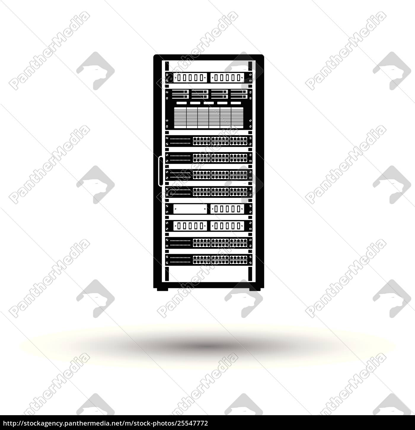 Server Rack Icon Royalty Free Photo 25547772 Panthermedia Stock Agency