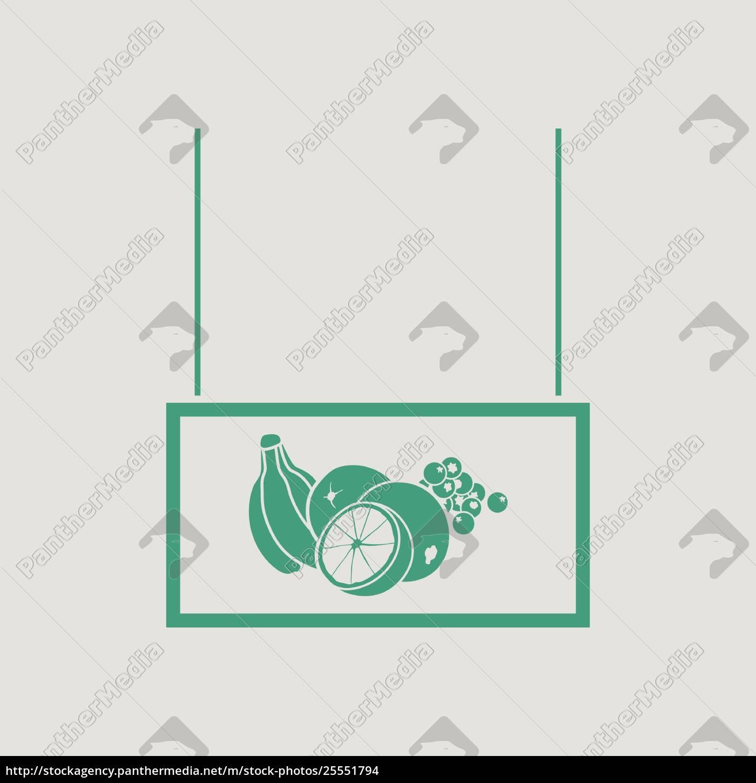 fruits, market, department, icon - 25551794
